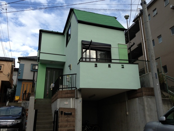 横浜市保土ヶ谷区A様邸で屋根・外壁塗装・ベランダ防水工事