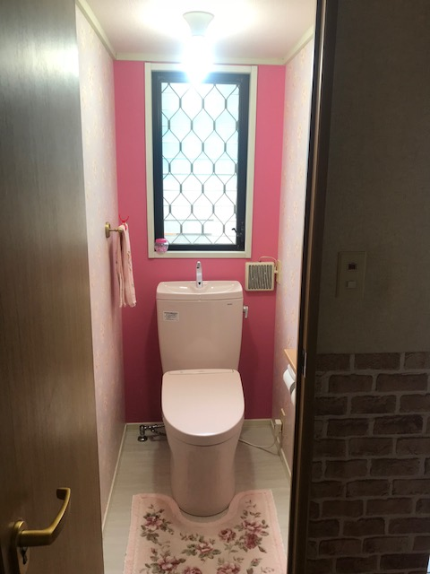 明るいお手洗い空間
