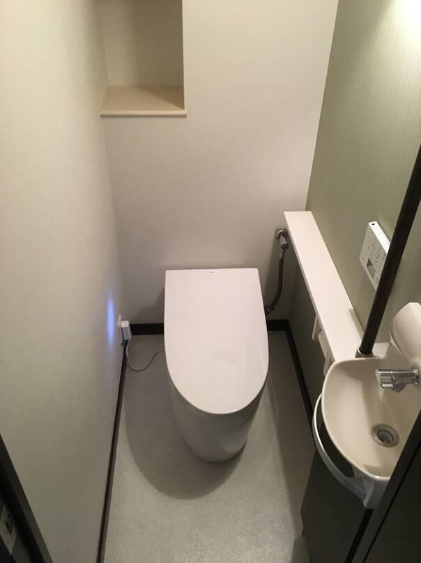スタイリッシュ且つシンプルなお手洗い空間
