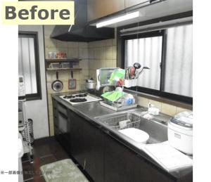 壁紙も貼り替え、気持ちの良いキッチン空間になりました!