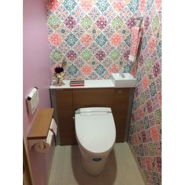 キャビネット付きトイレでリフォーム