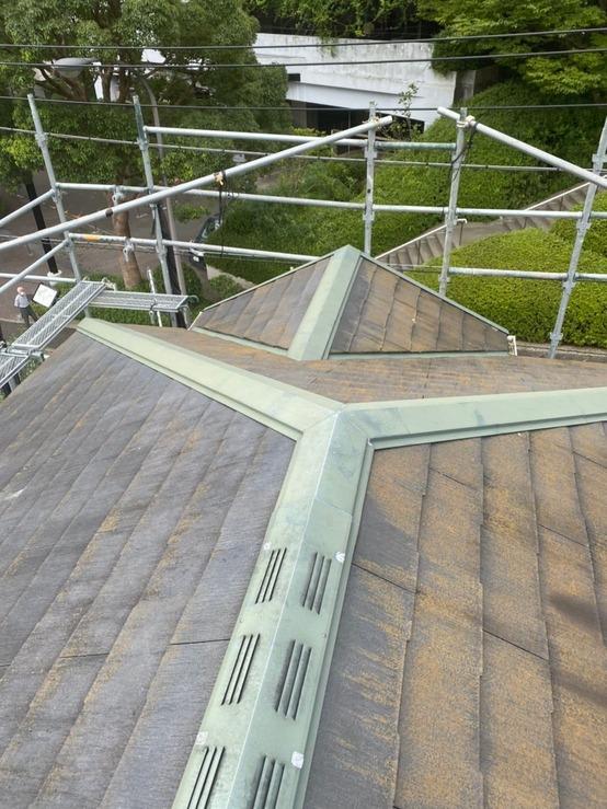 屋根重ね葺き工事(カバー工法) スーパーガルテクト