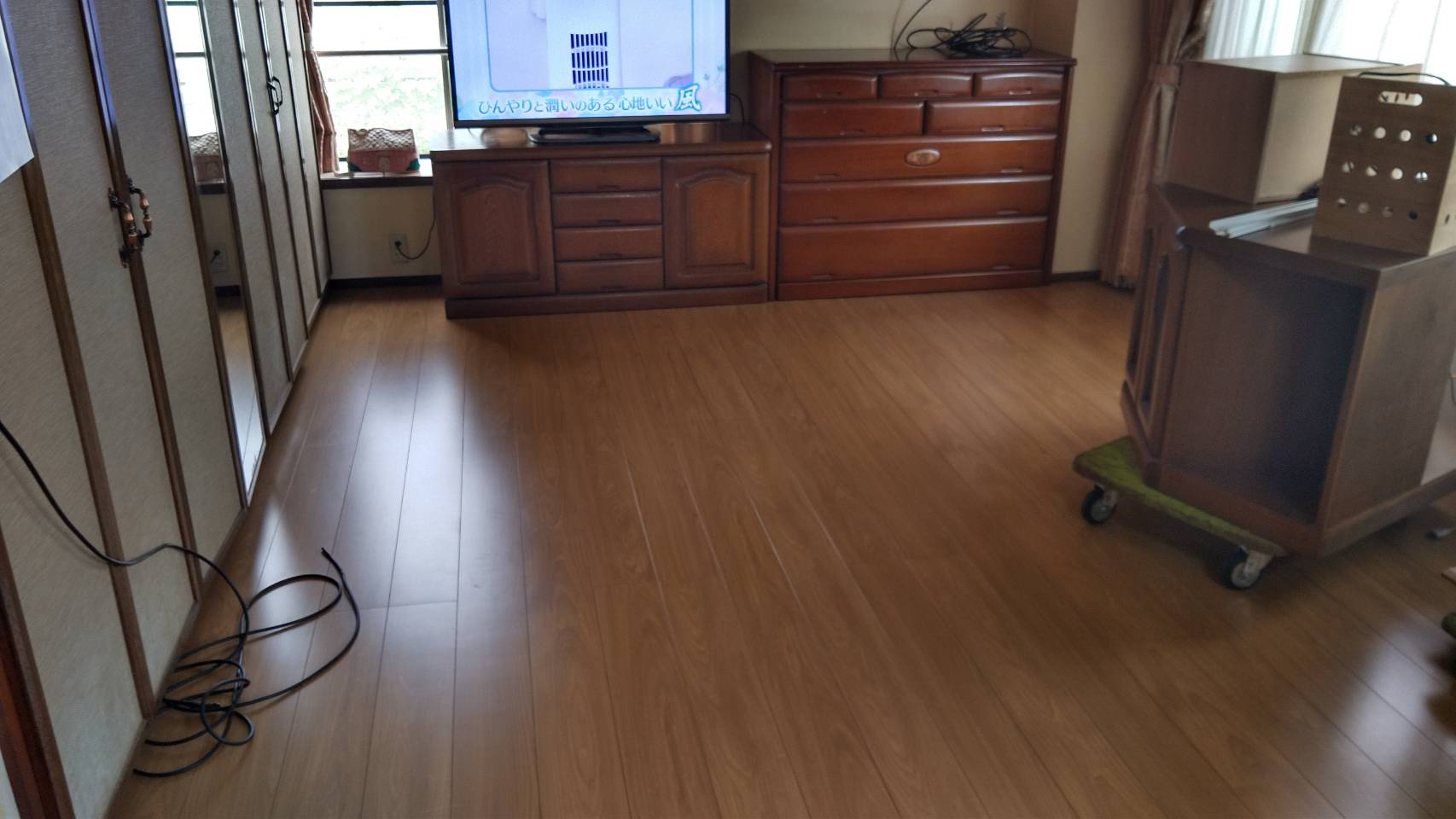 床の改修工事
