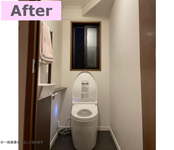 タンクレストイレで、見た目がとても良い感じになりました!