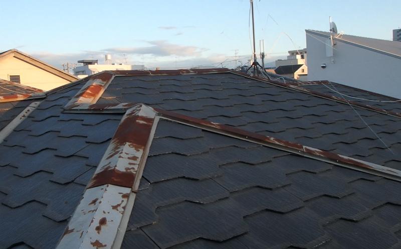 コケやサビが発生したスレート屋根塗装