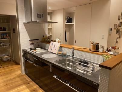 モデルハウスのキッチン交換