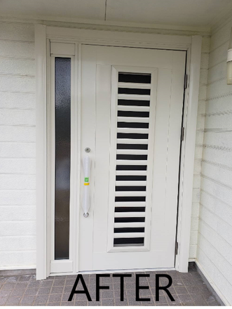 もっと玄関を使いやすく!開く向きを変えました!