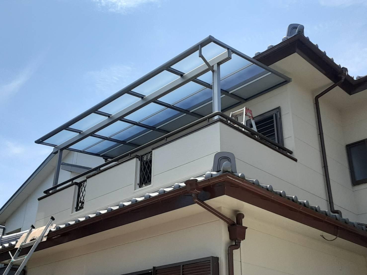 こんなに便利♪テラスに屋根を設置!