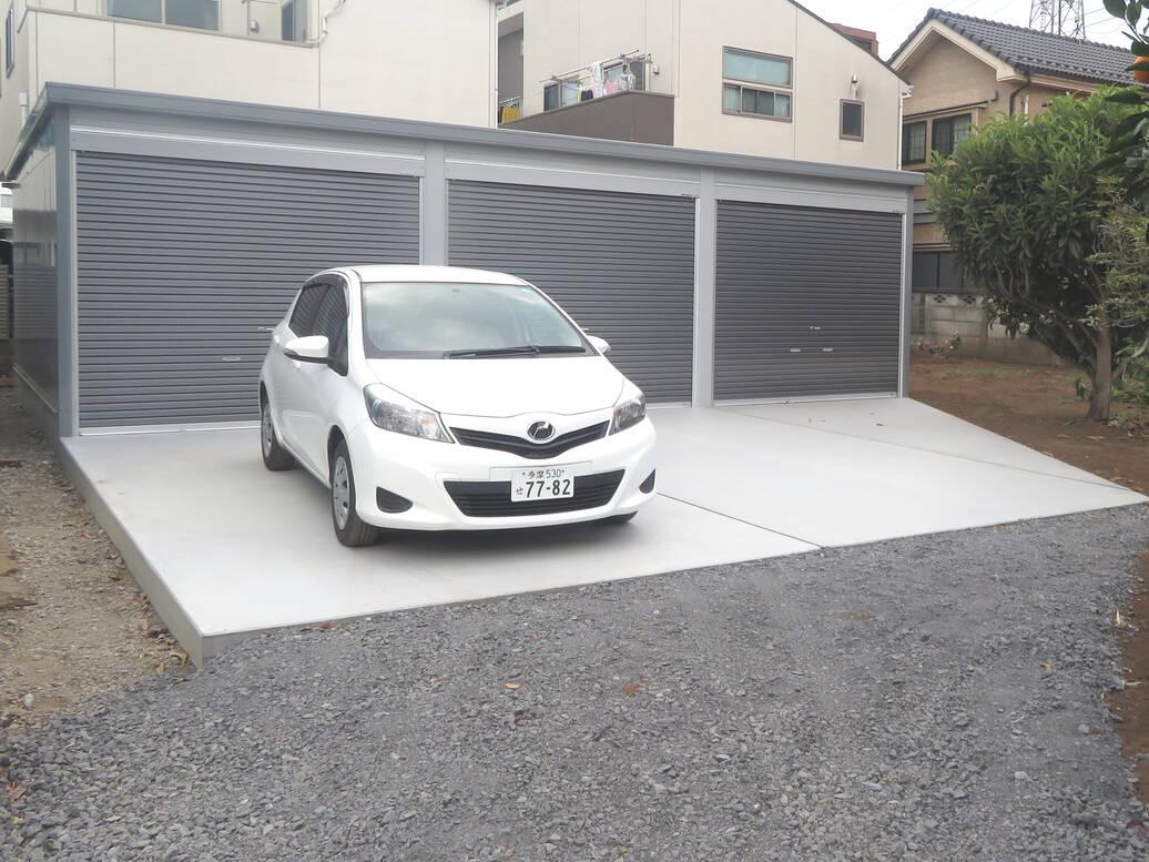 物置を新しくして駐車場も造りました!