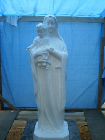 マリアの像塗装工事