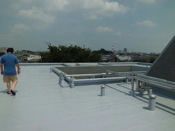 屋上ウレタン防水工事【屋根】
