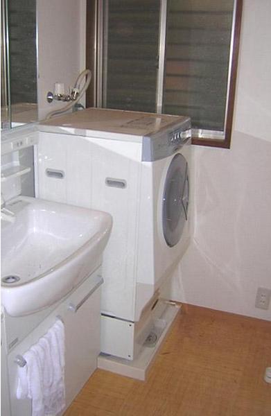 洗面台と洗濯機も配置換え【洗面】
