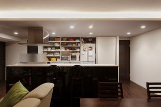 おしゃれな対面型キッチン