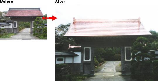 中門屋根の美しい由緒ある旧家