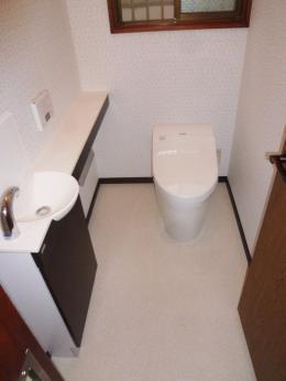 タンクレストイレにリフォーム