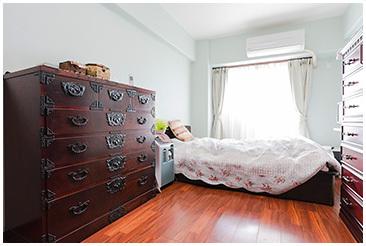 リラックスできる寝室