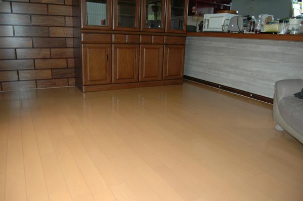 床暖房設置で快適なリビング