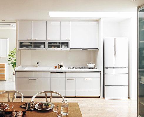 清潔感のある爽やかなキッチン
