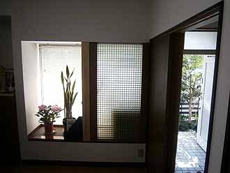 出窓部分の耐震補強工事