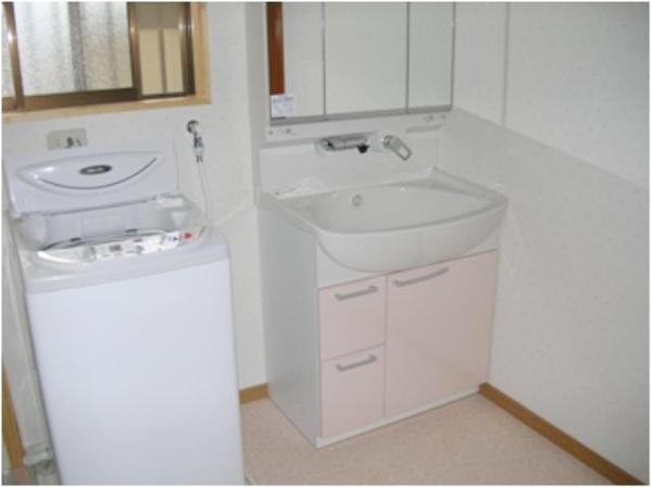 お風呂と同じ色の洗面