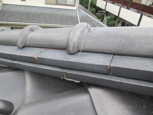 雨漏り瓦屋根を補修