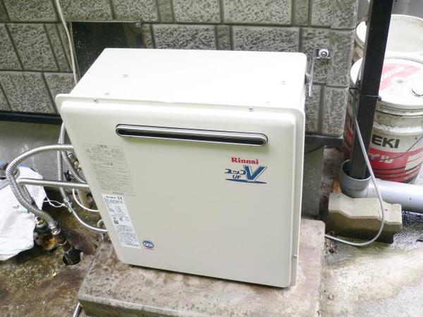 リンナイのガス給湯器にリフォーム