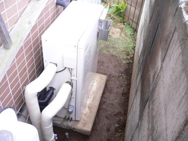 石油給湯器を新しくしました。