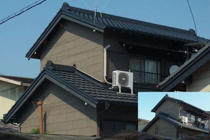 地震対策の為、軽量な金属瓦へ葺き替え
