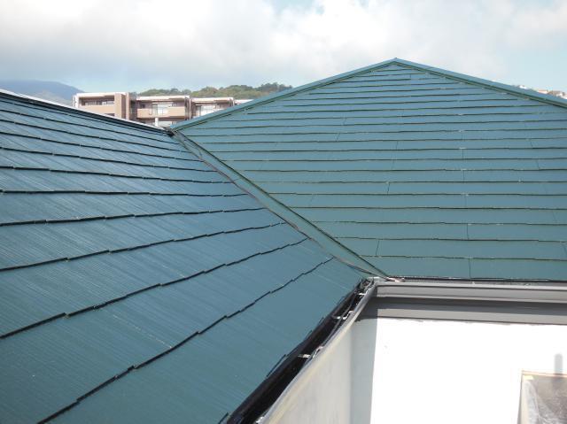 外壁ベルアートで模様作り・屋根塗装