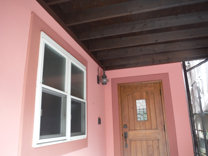 輸入住宅 外壁塗装リフレッシュ