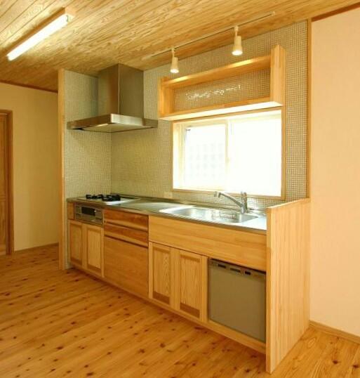 自然素材キッチン