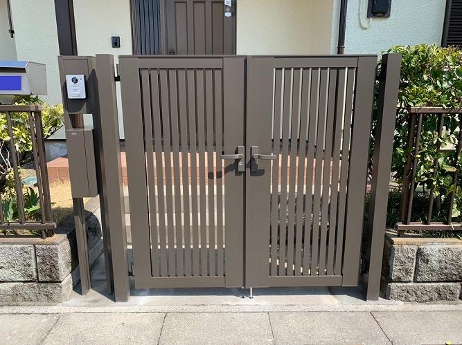 防犯面も安心!門扉とファンクションユニット設置!