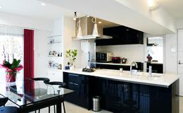 セミオープンタイプのキッチン