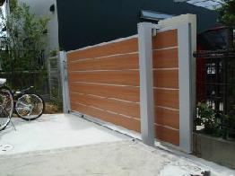 引き戸の門扉
