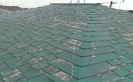 色あせた屋根