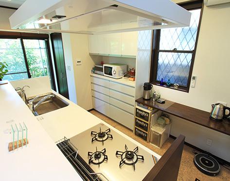 レイアウトを見なおして調理しやすいキッチンに