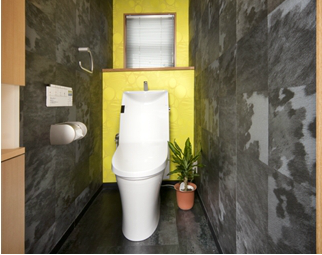 アーティステックなトイレ