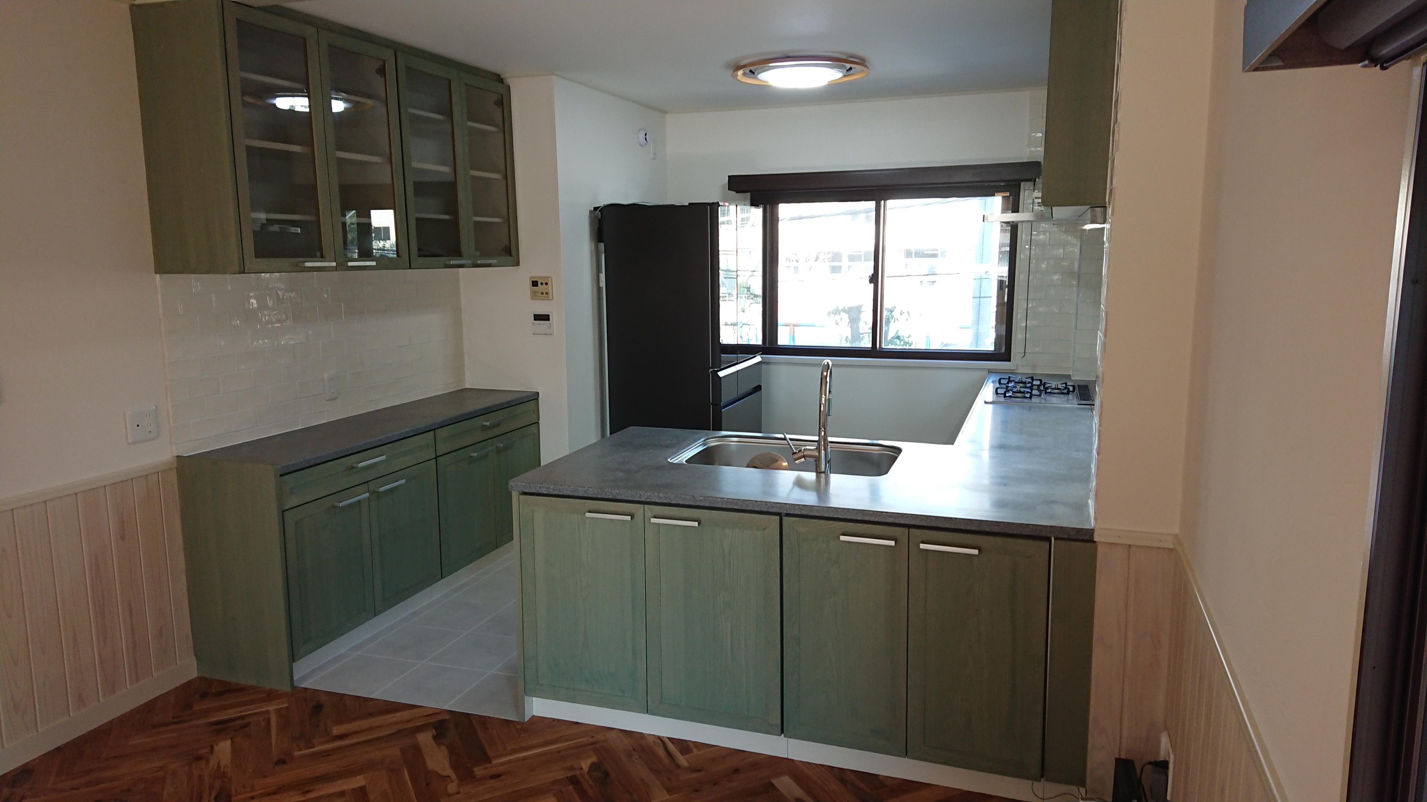 既存のキッチンをリメイク