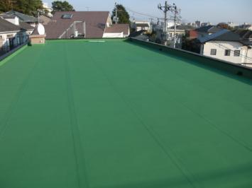屋上防水仕上げ塗装
