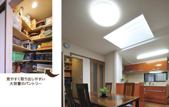 自然光を取り入れた明るいDKのリフォーム事例
