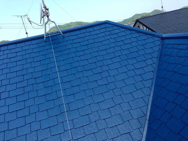 屋根塗装 宗像市 S様邸【屋根】