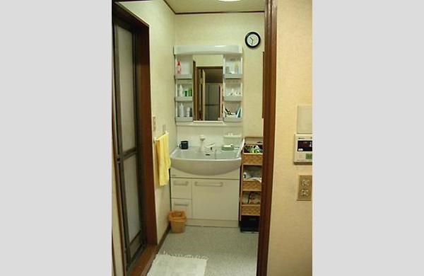ノーリツのシステム洗面台を採用【洗面】
