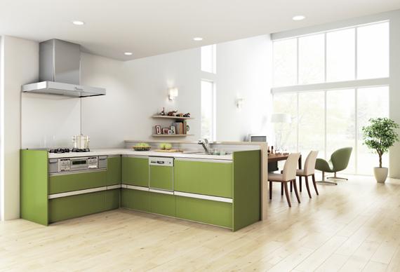 [参考資料]実際に取付けたキッチンと同タイプ(カラーは異なる)