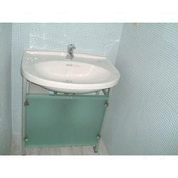 清潔感のあるブルーの洗面