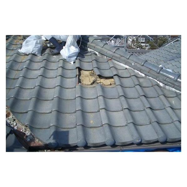新しい瓦でピカピカの屋根