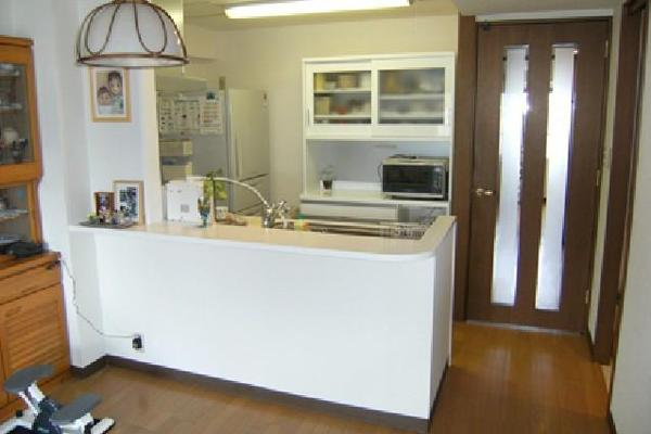 開放感のあるキッチン【キッチン】
