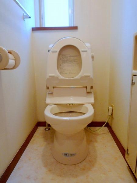 すっきり見た目の一体型シャワートイレ