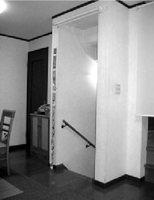 折戸取付け工事【階段】