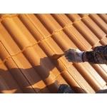 オレンジ瓦の明るい屋根