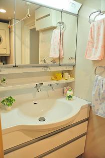 雨の日に洗濯物を干せる洗面所